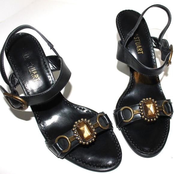 Colin Stuart Shoes - 💋Colin Stewart Brass Embellished Black Sandal